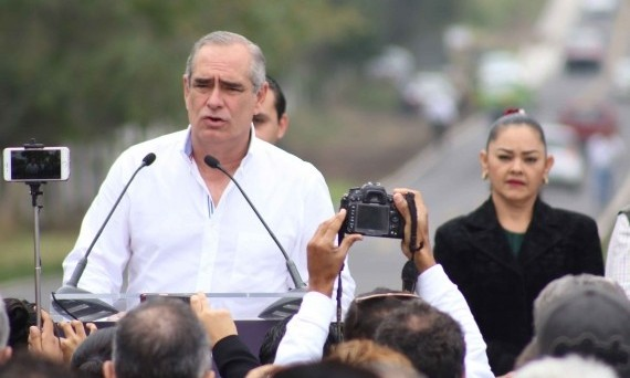Inauguración de la obra de conservación de carretera Cardel-Úrsulo Galván-Chachalacas